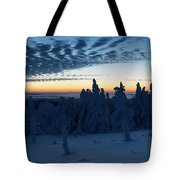 Just Before Sunrise On The Brocken In The Harz Mountains Tote Bag