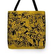 Just Halloweeny Things V5 Tote Bag by Chelsea Geldean