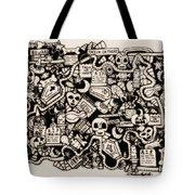 Just Halloweeny Things V6 Tote Bag by Chelsea Geldean
