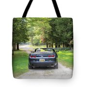 Just Married In The Car Tote Bag