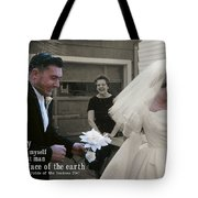 Just Married Today Quote Tote Bag