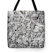 Just One Night Tote Bag by Chelsea Geldean