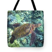 Just Tagging Along Tote Bag