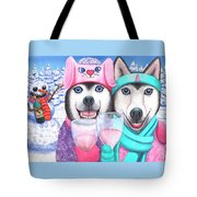 Just Wining In A Winter Wonderland Tote Bag
