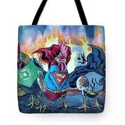 Justice Flock Tote Bag