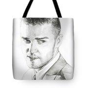 Justin Timberlake Drawing Tote Bag