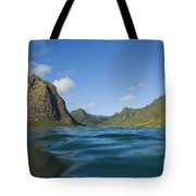 Kaaawa Valley From Ocean Tote Bag