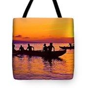 Maui Hawaii Kaanapali Outrigger Sunset Tote Bag