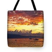 Ka'anapali Sunset Fire Tote Bag