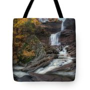 Kaaterskill Falls Autumn Square Tote Bag