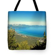 Lake Tahoe From The Top Of Heavenly Gondola Tote Bag