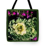 Kale With Petunias Tote Bag