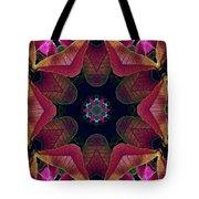 Kaleidoscope Christmas Poinsettia  Tote Bag