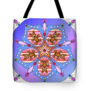 Kaleidoscope Of Bears And Bees Tote Bag