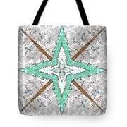 Kaleidoscope Of Winter Trees Tote Bag