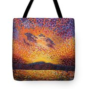 Kaleidoscope Sunrise Tote Bag