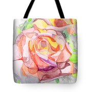 Kaleidoscopic Rose Tote Bag