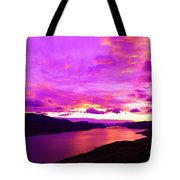 Kamloops Lake At Dawn Tote Bag