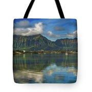 Kaneohe Bay Oahu Hawaii Tote Bag