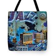 Kansas City Jazz Mural Tote Bag