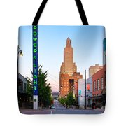 Kansas City Power And Light District Tote Bag