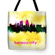 Kansas City Skyline 1 Tote Bag