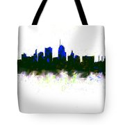 Kansas City Skyline Blue  Tote Bag