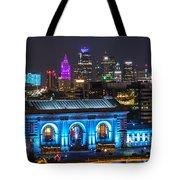 Kansas City Vibrant At Night Tote Bag