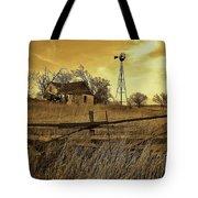 Kansas Pioneer Homestead On The Plains Tote Bag