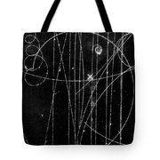 Kaon Proton Collision Tote Bag by SPL and Photo Researchers