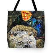 Kaptain Van Janned And His Trusty Bear Vincent Tote Bag