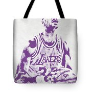 Kareem Abdul Jabbar Los Angeles Lakers Pixel Art Tote Bag