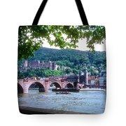 Karl Theodor Bridge And Heidelberg Castle  Tote Bag