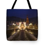 Karl Theodor Bridge With The Castle Tote Bag