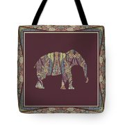 Kashmir Patterned Elephant 2 - Boho Tribal Home Decor  Tote Bag