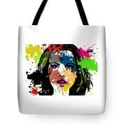 Kate Beckinsale Pop Art Tote Bag