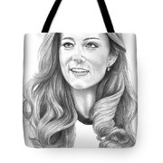 Kate Middleton Catherine Duchess Of Cambridge Tote Bag