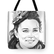 Kate Middleton Tote Bag by Murphy Elliott