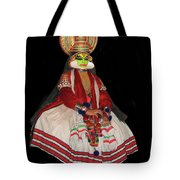 Kathakali Dancer Tote Bag