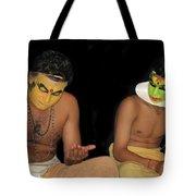 Kathakali Dancers Getting Ready Tote Bag