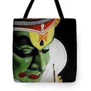 kATHAKALI PAINTING REALISTIC Tote Bag