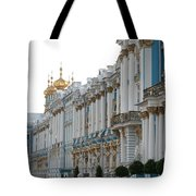 Katharinen Palace And Onion Domes - Russia Tote Bag
