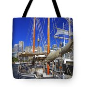 Kathleen Gillett The Artist Cruising Ketch Tote Bag