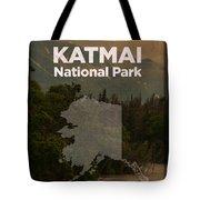 Katmai National Park In Alaska Travel Poster Series Of National Parks Number 34 Tote Bag