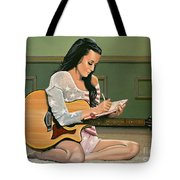 Katy Perry Painting Tote Bag