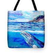 Kauai Humpback Whale Tote Bag