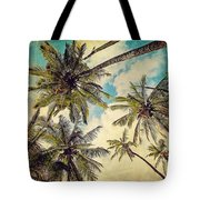 Kauai Island Palms - Blue Hawaii Photography Tote Bag