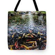 Kauai Koi Pond Tote Bag by Darcy Michaelchuk