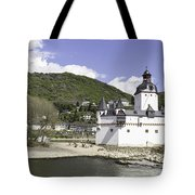 Kaub And Burg Pfalzgrafenstein Tote Bag
