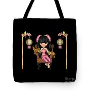 Kawaii China Doll Scene Tote Bag